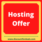 hosting offers- discount for deals
